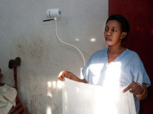 One of the nurses in the labour room at the maternity ward at Baraka Hospital.