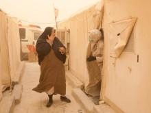 Refugee camp Al Tanf.De kliniek in het kamp.