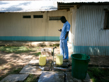 Milimani Hospital, Kisumu. Laundry area.