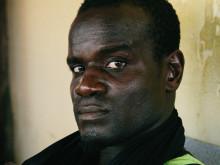 Joshua Clottey, voormalig IBF wereldkampioen in Bukom.